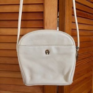 Etienne Aigner cream leather small purse